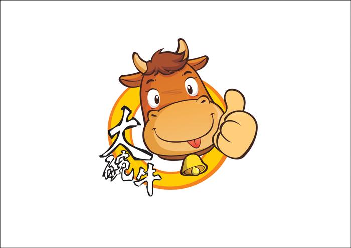 大碗牛牛肉面标志设计